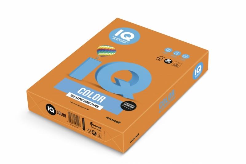 Papier ksero A4/500 80g IQ Color pomarańczowy