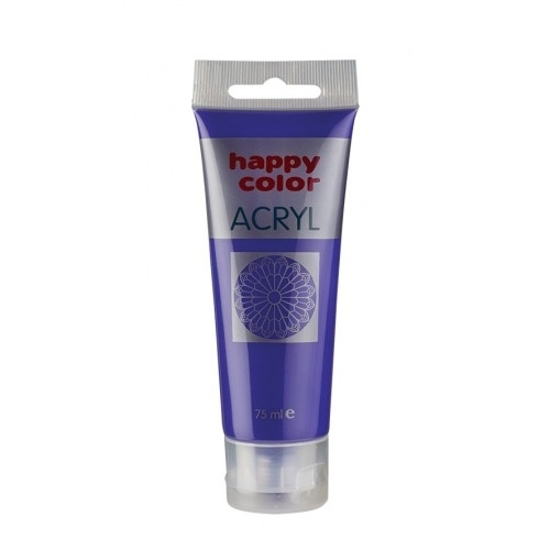 Farba akrylowa fioletowa 75 ml Happy Color