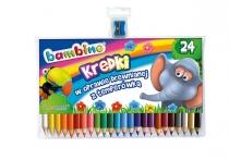 Kredki ołówkowe Bambino 24 kolory + temperówka