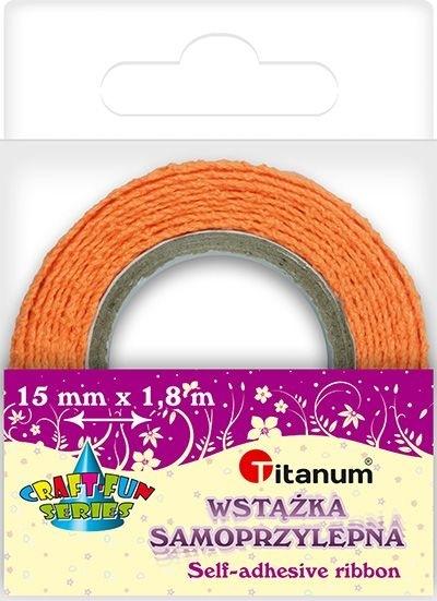 Wstążka bawełniana koronkowa pomarańczow 15mmx1,8m