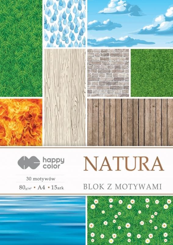 Happy Color blok z motywem Natura A4 15 ark