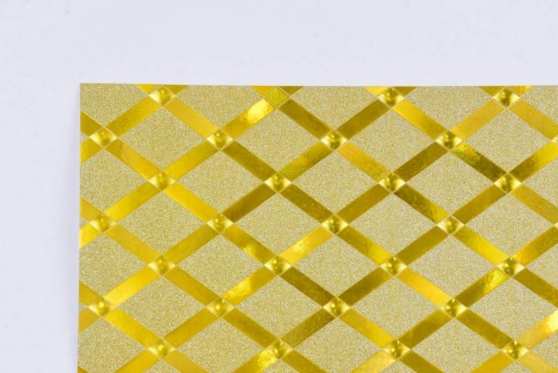 Brystol A2 220g brokatowo-metalizo. Diamond złoty