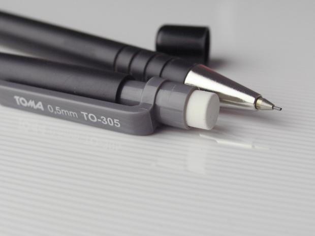 Ołówek automatyczny z gumką Soft TOMA