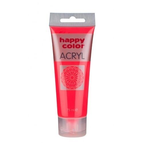 Farba akrylowa czerwony fluo75 ml Happy  Color