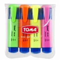 Zakreślacz tekstu zestaw 4 kolory TOMA TO-34