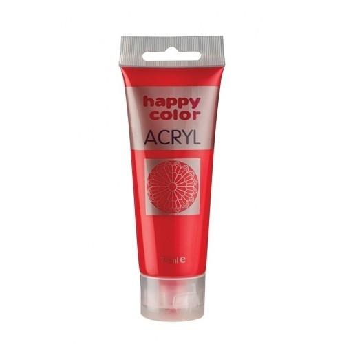 Farba akrylowa czerwona 75 ml Happy Color