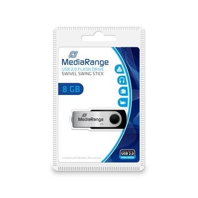 Pendrive 8GB MEDIARANGE obracany