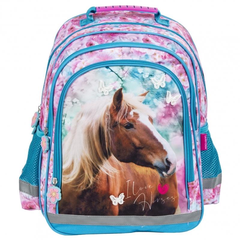 Plecak szkolny Konie 15B 19  Derform
