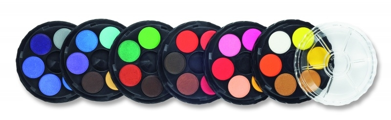 Farby akwarelowe 36 kolory fi22,5mm  Koh-I-Noor