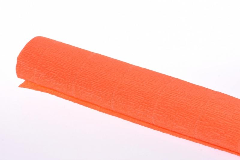 Krepina włoska 0,5x2,5m pomarańcz fluo nr 581