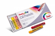 Kredki pastelowe olejne Pentel 16 kol.