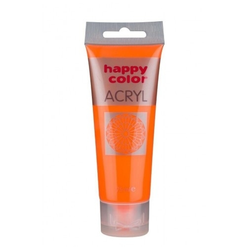 Farba akrylowa pomarańczowa fluo75 ml Happy  Color