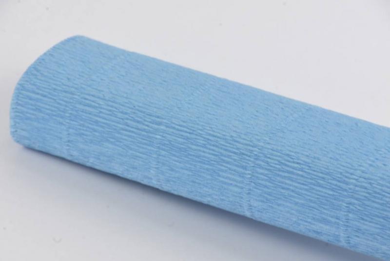 Krepina włoska 0,5x2,5m błękitny nr 556