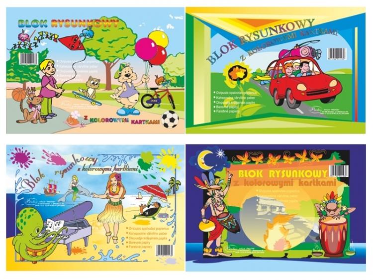 Blok rysunkowy kolorowy A4 16 kartek