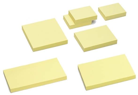 Notes samoprzylepny 100 x75 mm pastel żółty TRES