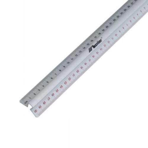 Linijka 20cm aluminiowa z uchwytem Leniar