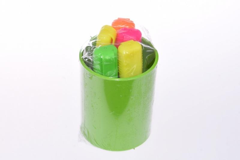 Zestaw 5 zakreślaczy Snowman + kubek zielony