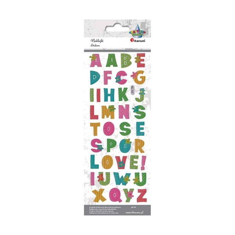 Naklejki do dekoracji alfabet