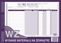 WZ A4 wydanie materiału na zewnątrz