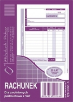 Rachunek A6 dla zwolnionych z VAT