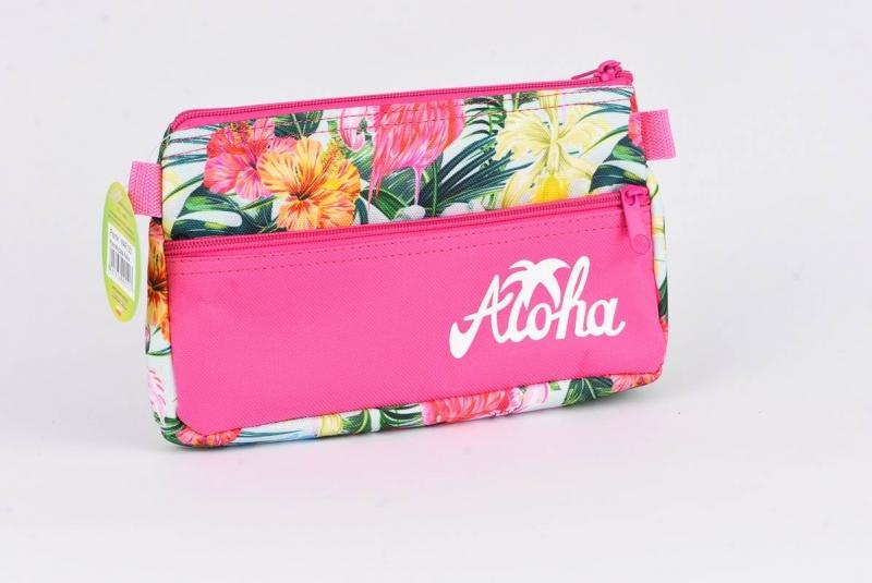 Saszetka z kieszonką  Aloha różowa  War551