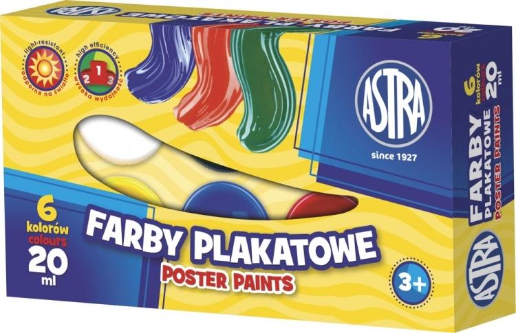 Farby plakatowe 6 kolorów Astra
