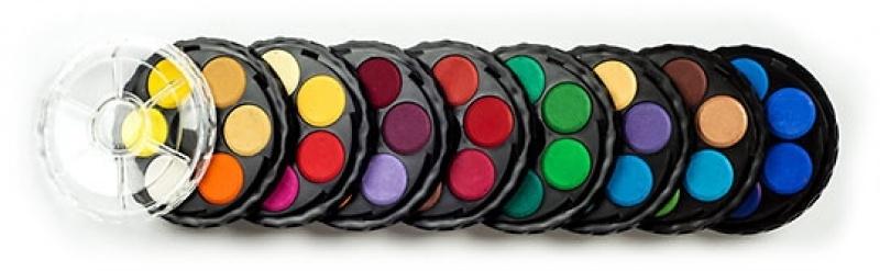 Farby akwarelowe 48 kolorów fi22,5mm  Koh-I-Noor