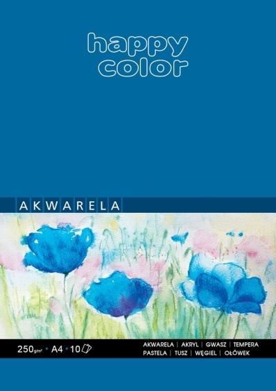 Blok artystyczny do akwareli A4 10ark. 250g Happy Color