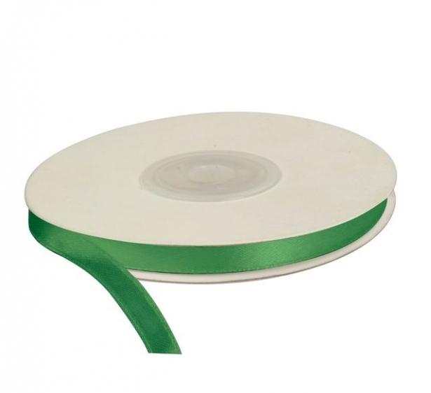 Wstążka satynowa dekoracyjna zielona 6mm/25m