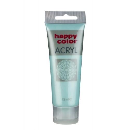 Farba akrylowa miętowy perłowy metalik 75 ml Happy