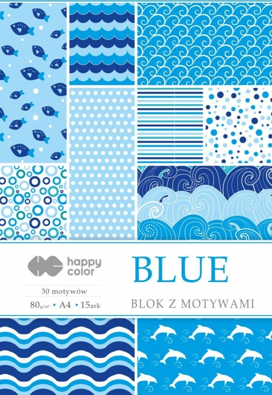 Happy Color blok z motywem Blue A4 15 ark