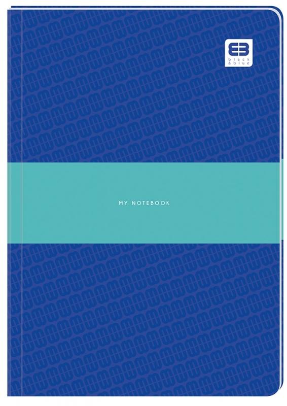 Brulion A5 96k kratka półtwarda Black&Blue Pastel