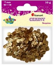 Cekiny kreatywne okrągłe matowe złote 7mm 10g