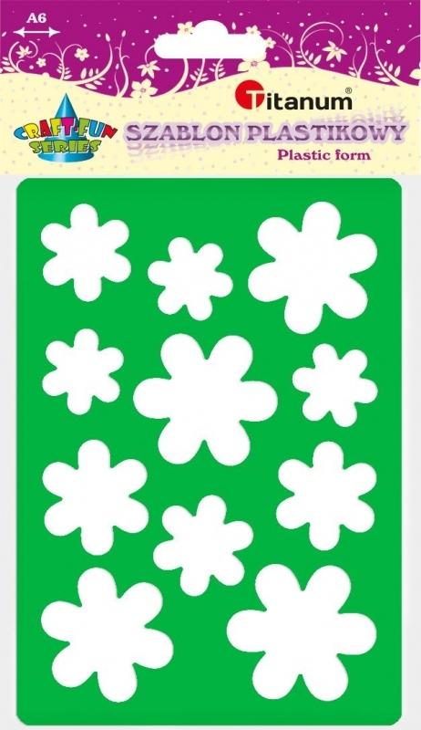 Szablon plastikowy A6 kwiaty 22934