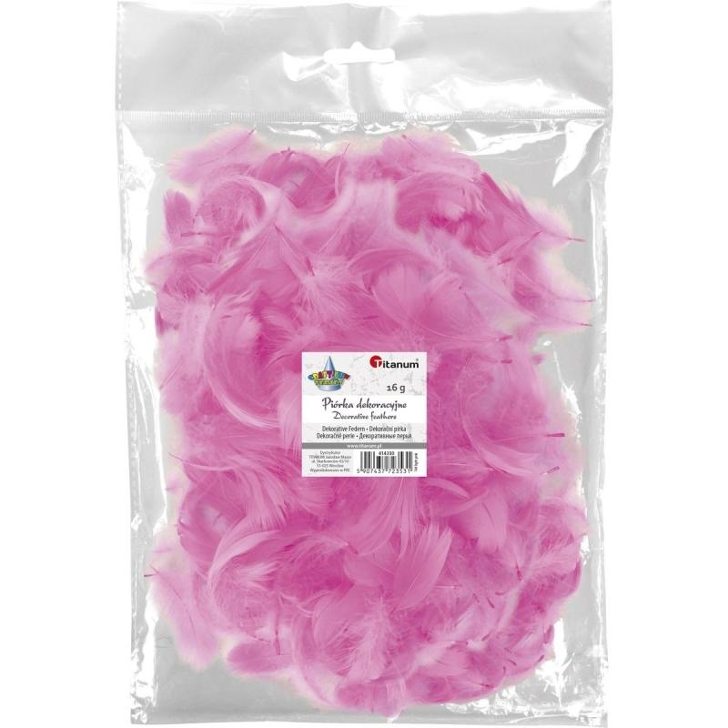 Piórka dekoracyjne 16g 5-12cm mix jasny róż