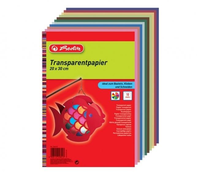 Papier transparentny 10 kolorów Herlitz