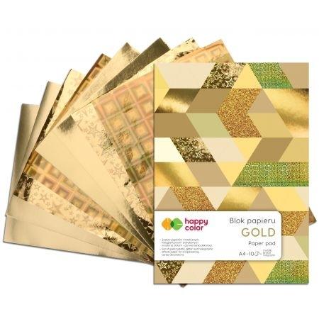 Happy Color blok Gold A4 10 ark 150-260g Happy