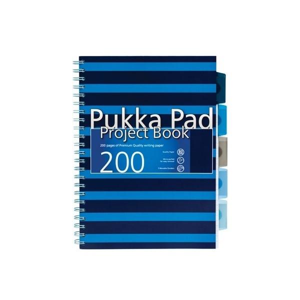 Kołonotes A4 200k =N Projekt Book Navy Pukka Pad