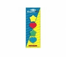 Magnesy różne kształty i kolory  Titanum 4 sztuki 30mm