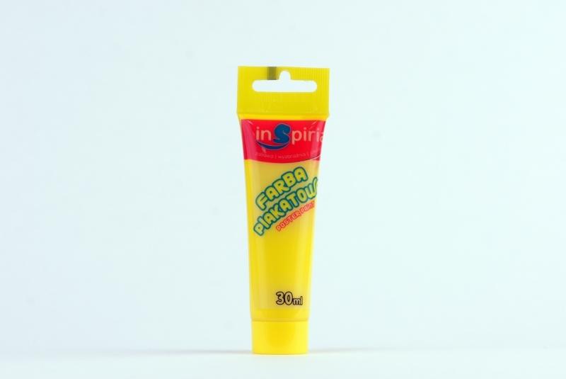 Farby plakatowe w tubie 30ml żółta Inspiria