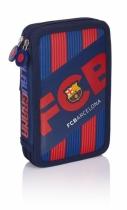 Piórnik podwój z wyposażeniem  FC Barcelona FC-144
