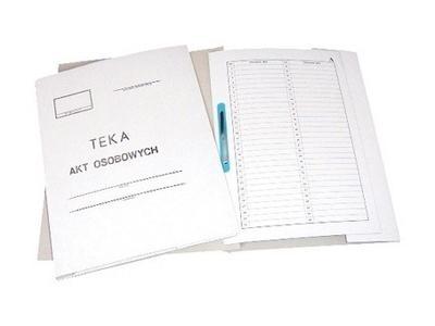 Teczka akt osobowych A4 biała karton