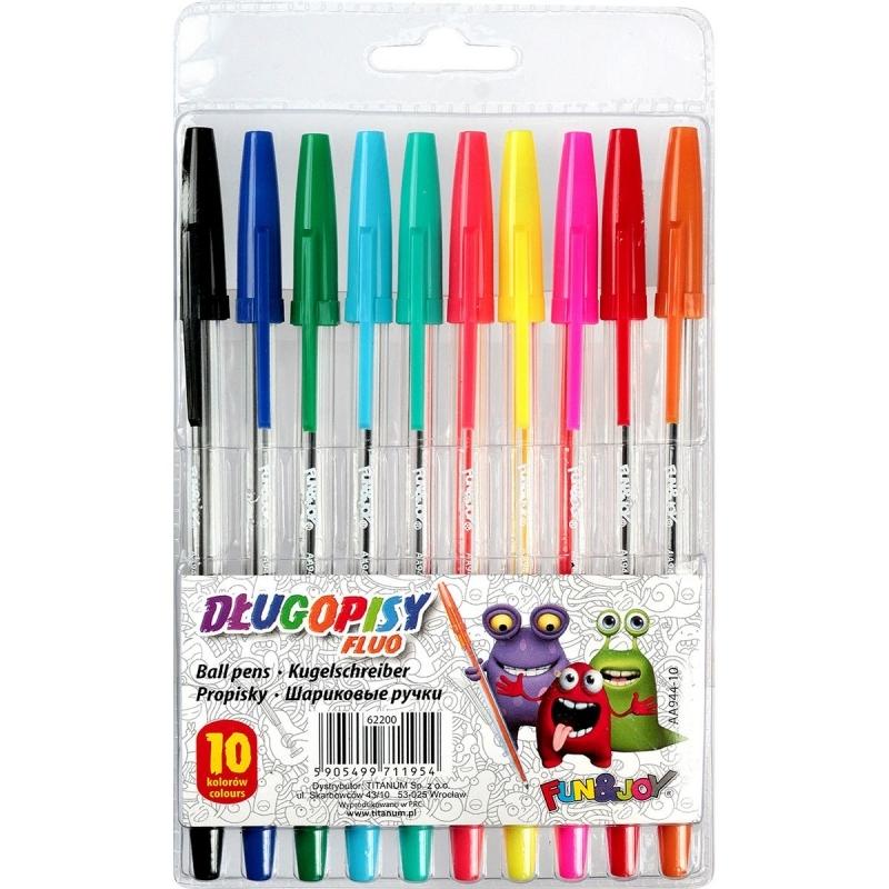 Długopis 10 kolorów Fluo FunJoy