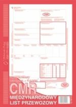 CMR Międzynarodowy List Przewozowy 1+4 kopie
