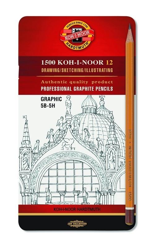 Zestaw ołówków 1500 12szt 5B-5H met. pudełku