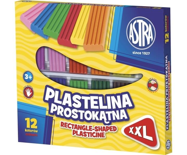 Plastelina kwadratowa XXL 12 kolorów Astra