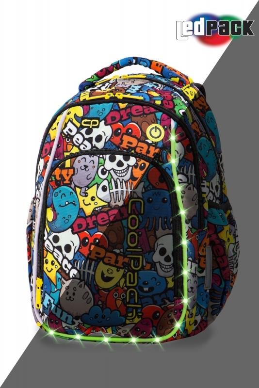 Plecak młodzieżowy Coolpack Strike S Cartoon Led