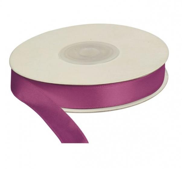 Wstążka satynowa dekoracyjna fioletowa 12mm/25m