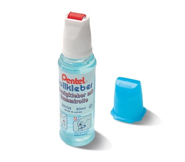 Klej w płynie z gumową rolką Pentel 30 ml