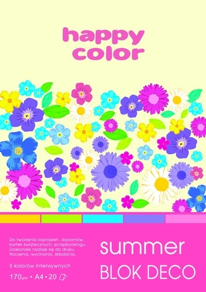 Happy Color blok kolor mix Summer A5/20 170g Deco